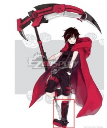 RWBY Red Ruby Rose Male Black Shoes Cosplay Boots