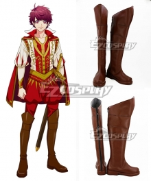 A3! Secret Special Training on the Riverside Sakuma Sakuya Brown Shoes Cosplay Boots