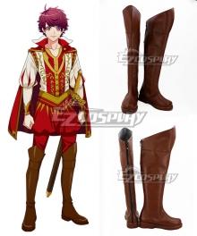A3! Secret Special Training on the Riverside Sakuma Sakuya Brown Shoes Cosplay Boots