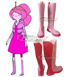 Adventure Time Princess Bubblegum Pink Shoes Cosplay Boots