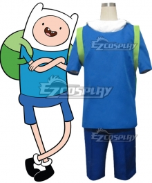 Adventure Time the Human Finn Mertens Cosplay Costume