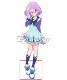 Aikatsu Stars! Koharu Nanakura White Blue Cosplay Shoes