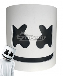 American Music Droducer DJ Marshmello Halloween Mask Cosplay Accessory Prop