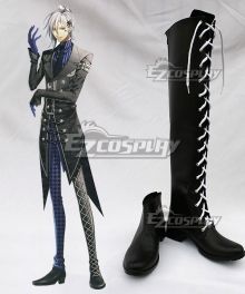 AMNESIA Ikki Black Shoes Cosplay Boots