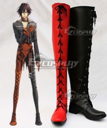 AMNESIA Shin Red Black Shoes Cosplay Boots