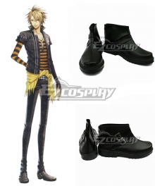AMNESIA Toma Black Cosplay Shoes