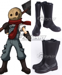 Angels of Death Satsuriku no Tenshi Eddie Edward Mason Black Shoes Cosplay Boots