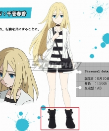 Angels Of Death Satsuriku No Tenshi Ray Rachel Gardner Black Shoes Cosplay Boots