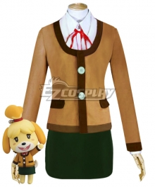 Animal Crossing: New Horizons Isabelle Winter Outfit Cosplay Costume