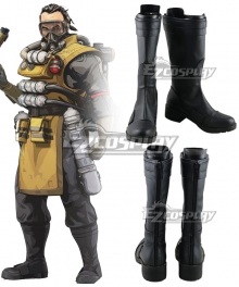 Apex legends Caustic Black Cosplay Shoes