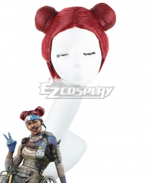 Apex legends Combat Medic Lifeline Ajay Che Pink Red Cosplay Wig
