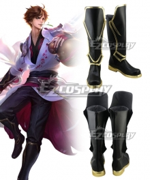 Arena Of Valor Honor of Kings Li Bai Black Shoes Cosplay Boots