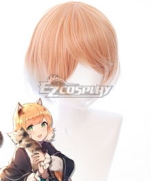 Arknights Mousse Golden Orange Cosplay Wig