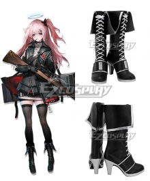Arknights Ambriel Black Shoes Cosplay Boots