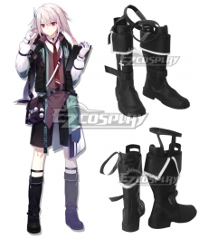 Arknights Ansel Black Shoes Cosplay Boots