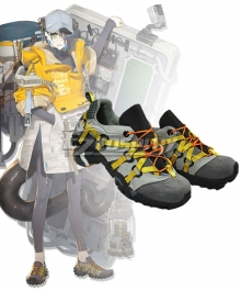 Arknights Asbestos  Grey Cosplay Shoes