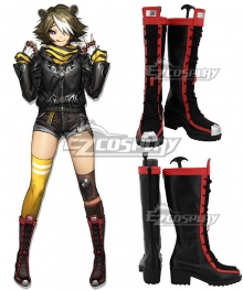 Arknights Beehunter Black Shoes Cosplay Boots