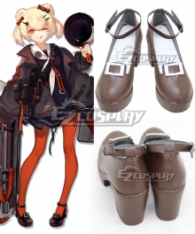 Arknights Гум Brown Cosplay Shoes