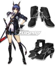 Arknights Ch'en Black Shoes Cosplay Boots