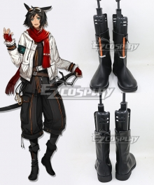 Arknights Courier Black Shoes Cosplay Boots