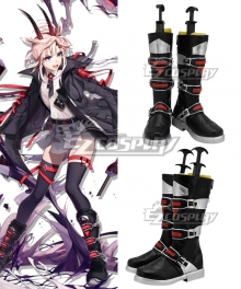 Arknights Earthspirit Black Shoes Cosplay Boots