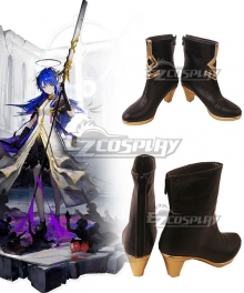 Arknights Epoque Mostima Black Cosplay Shoes