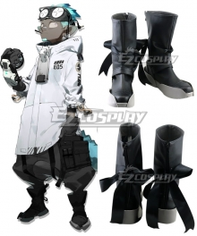 Arknights Ethan Black Cosplay Shoes