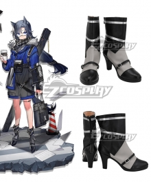 Arknights Fang Cruciata Cambrian Gray Cosplay Shoes