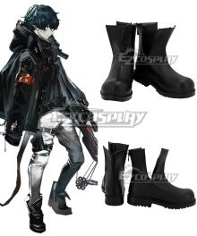 Arknights Faust Black Cosplay Shoes