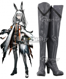 Arknights Frostnova Black Shoes Cosplay Boots