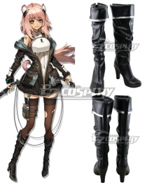 Arknights Gravel Black Shoes Cosplay Boots