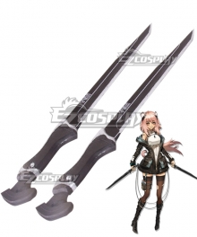 Arknights Gravel Black Sword Cosplay Weapon Prop