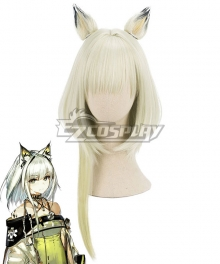 Arknights Kal'tsit Green White Cosplay Wig - Wig + Ears