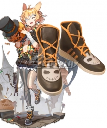 Arknights Kroos Witch Festa Brown Cosplay Shoes