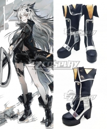 Arknights Lappland Black Shoes Cosplay Boots