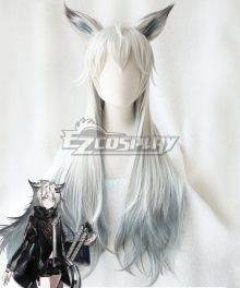 Arknights Lappland White Cosplay Wig - Wig + Ears