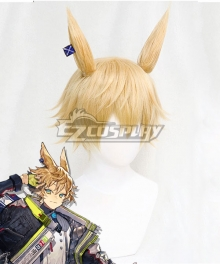 Arknights Leonhardt Golden Cosplay Wig