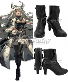 Arknights Matoimaru Black Cosplay Shoes