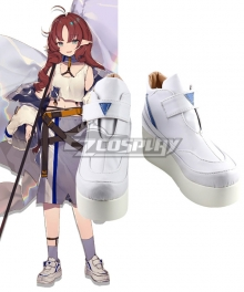 Arknights Myrtle White Cosplay Shoes