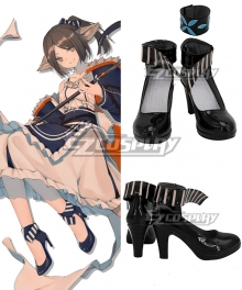 Arknights Perfumer Black Cosplay Shoes