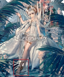 Arknights Platinum Shining Dew SD05 Swimsuit Skin Summer Golden Cosplay Shoes