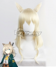 Arknights Podenco Golden Cosplay Wig + Ears