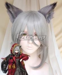 Arknights Projekt Red Gray Cosplay Wig - Wig + Ears