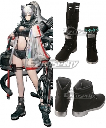 Arknights Schwarz Black Cosplay Shoes