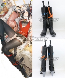 Arknights Schwarz Icefield Messenger Skin PRESENT Black Shoes Cosplay Boots