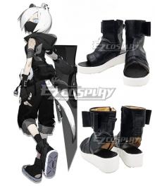 Arknights ShiraYuki Black Cosplay Shoes