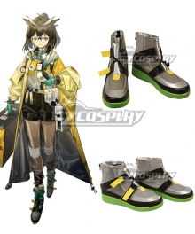 Arknights Silence Pioneer Raytheon Gray Cosplay Shoes
