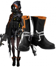 Arknights Skullshredder Black Cosplay Shoes
