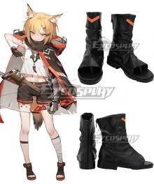 Arknights Vermeil Black Cosplay Shoes