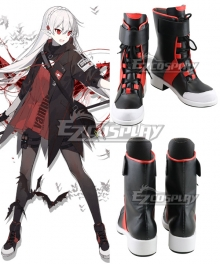 Arknights Warfarin Elite Promotion Red Black Cosplay Shoes